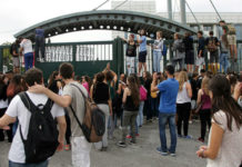 Διαμαρτυρία μαθητών στο υπουργείο Παιδείας
